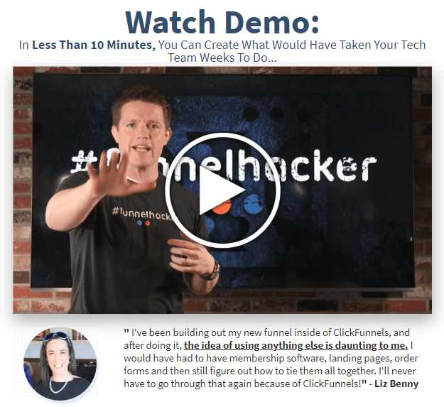 ClickFunnels watch demo